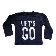 Camiseta Let's Go - Marinho
