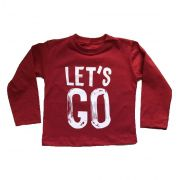 Camiseta Let's Go Vermelha