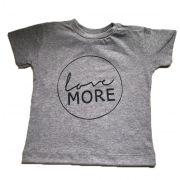 Camiseta Love More - Cinza