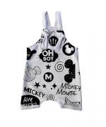 Jardineira Mickey - Branca