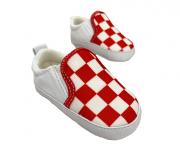 Sapatinho Baby Xadrez - Vermelho
