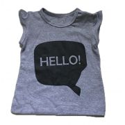 T-Shirt Hello -Cinza