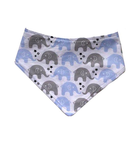Babador Bandana - Elefantes Azul