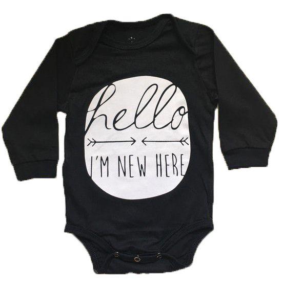 """Body """"Hello - I'm new here"""" - Preto"""
