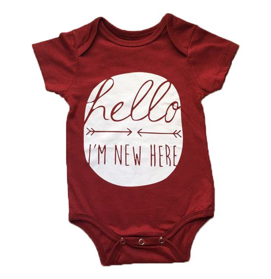 "Body ""Hello I'm new here"" - Vermelho"