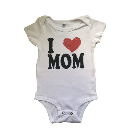 Body I Love Mom - Branco