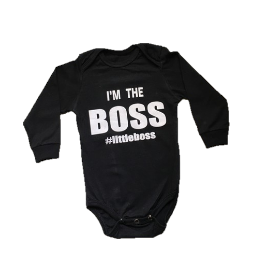 """Body """"I'm the Boss"""" - Preto"""