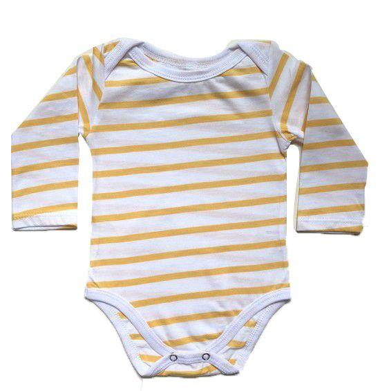 Body Listras - Amarelo