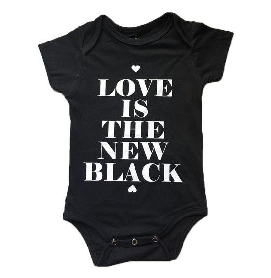 """Body """"Love is the new black"""" - Preto"""