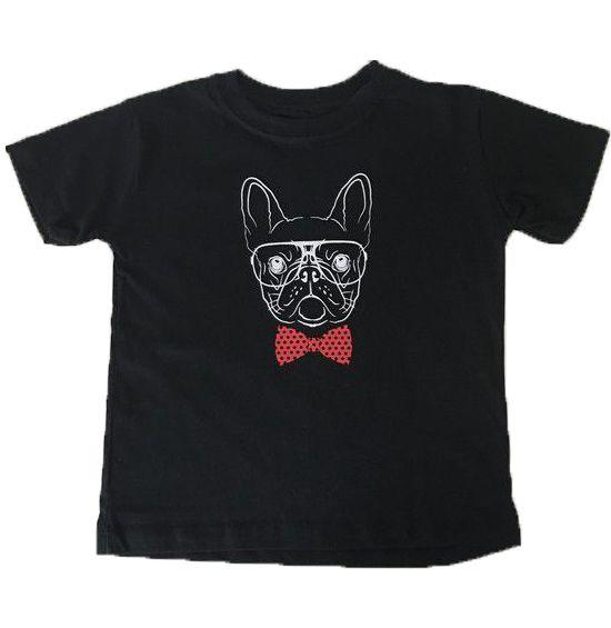 Camiseta Bulldog Gravata - Preto