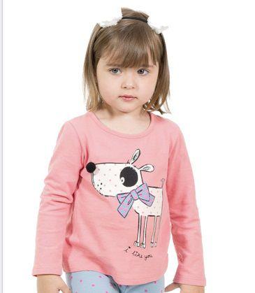 Camiseta Cachorrinho - Manga Longa
