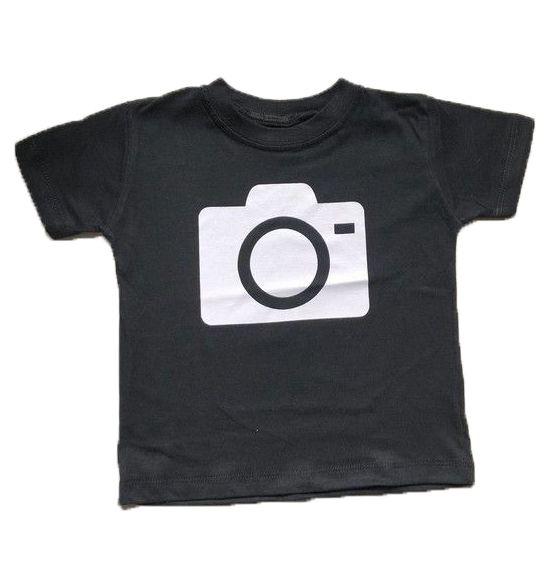 Camiseta Câmera - Preta