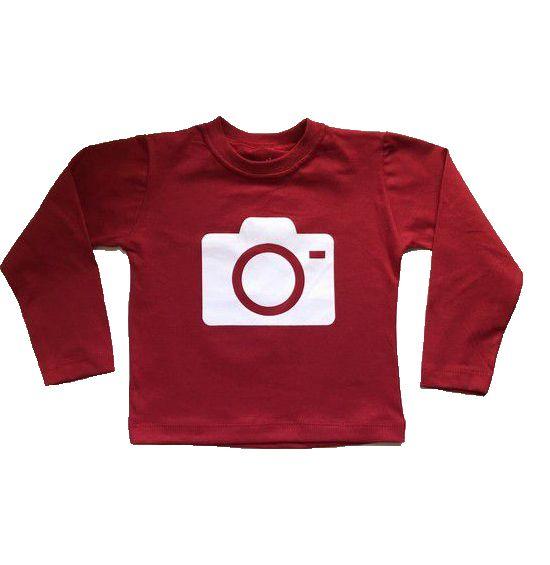 Camiseta Câmera Vermelha
