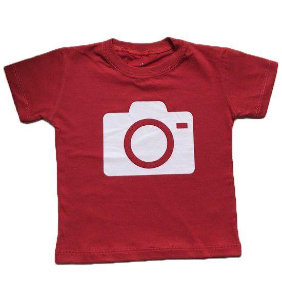 Camiseta Câmera - Vermelha