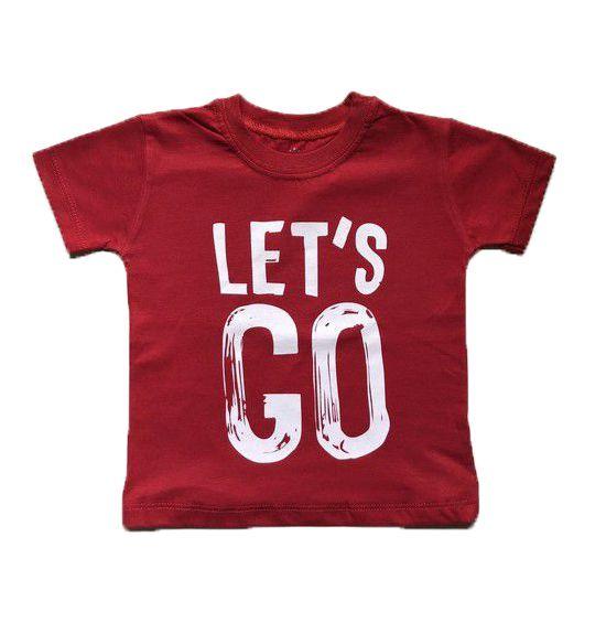 Camiseta Let's Go - Vermelho