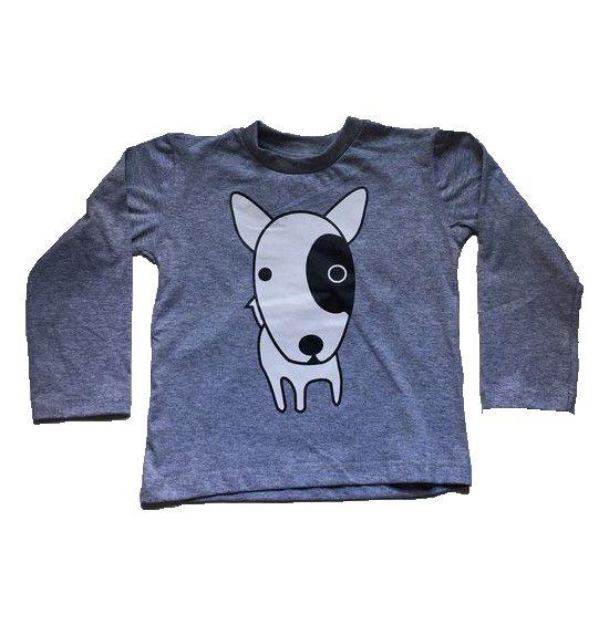 Camiseta Manga Longa Dog - Cinza