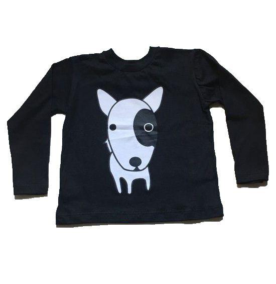 Camiseta Manga Longa Dog - Preta