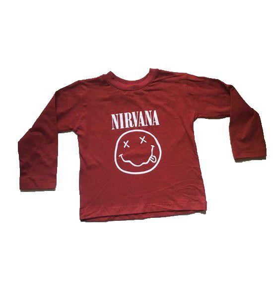 Camiseta Manga Longa Nirvana - Vermelha