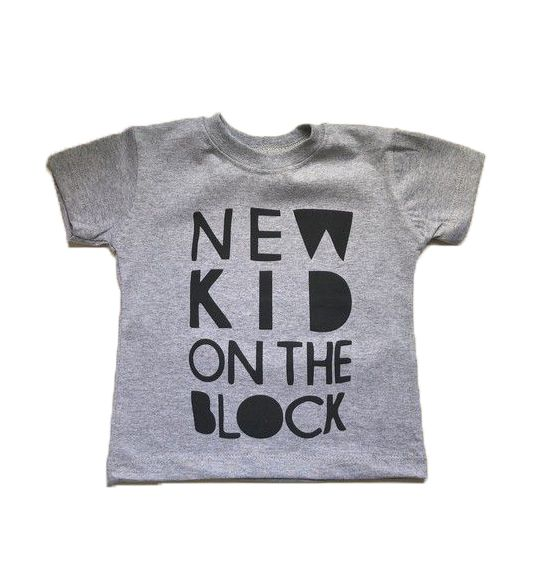 Camiseta New Kid - Cinza