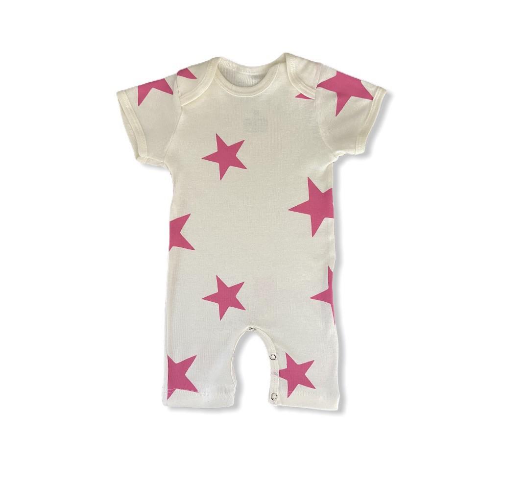 Macacão Estrelas Pink