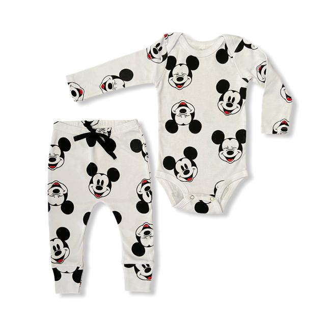 Conjunto Mickey - Branco