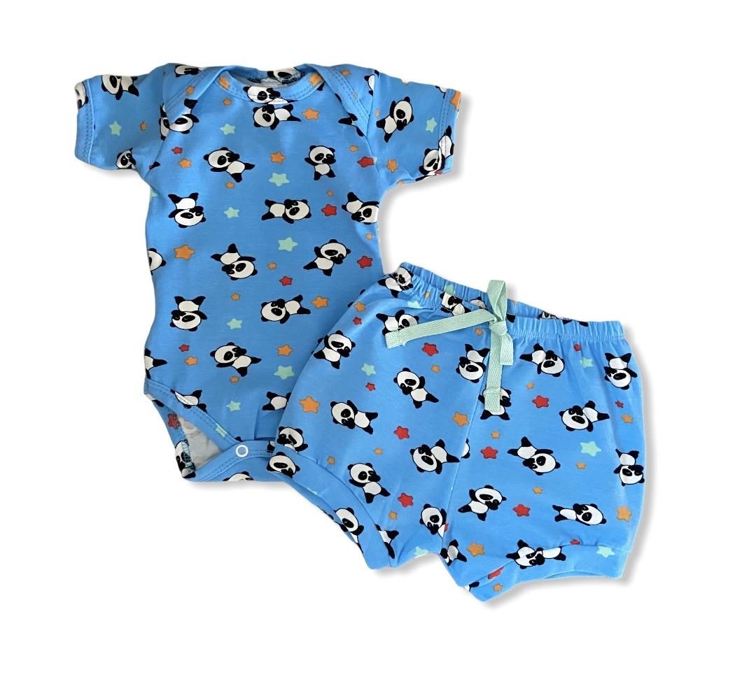 Conjunto Panda Azul