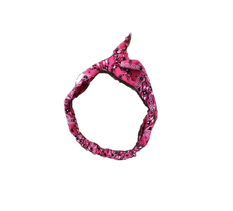 Faixa Baby - Bandana Pink