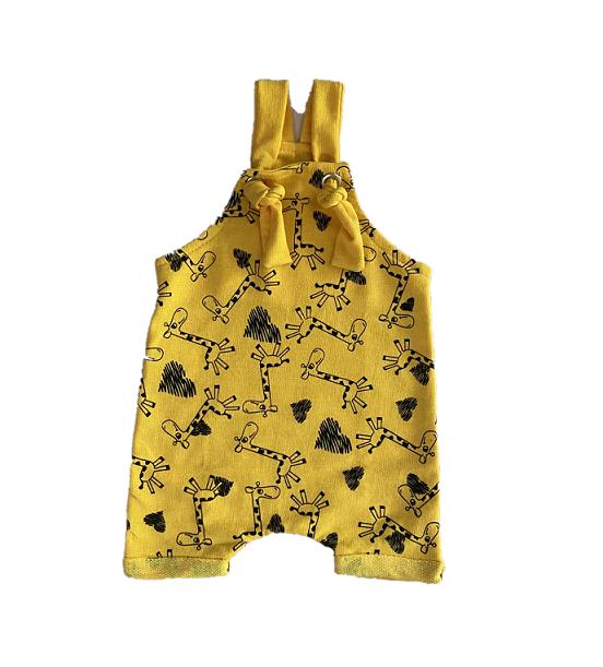 Jardineira Girafinhas Amarela