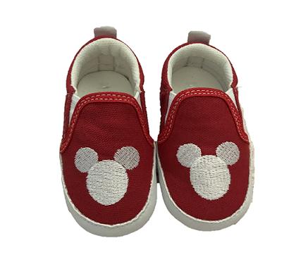 Sapatinho Baby Mickey Vermelho