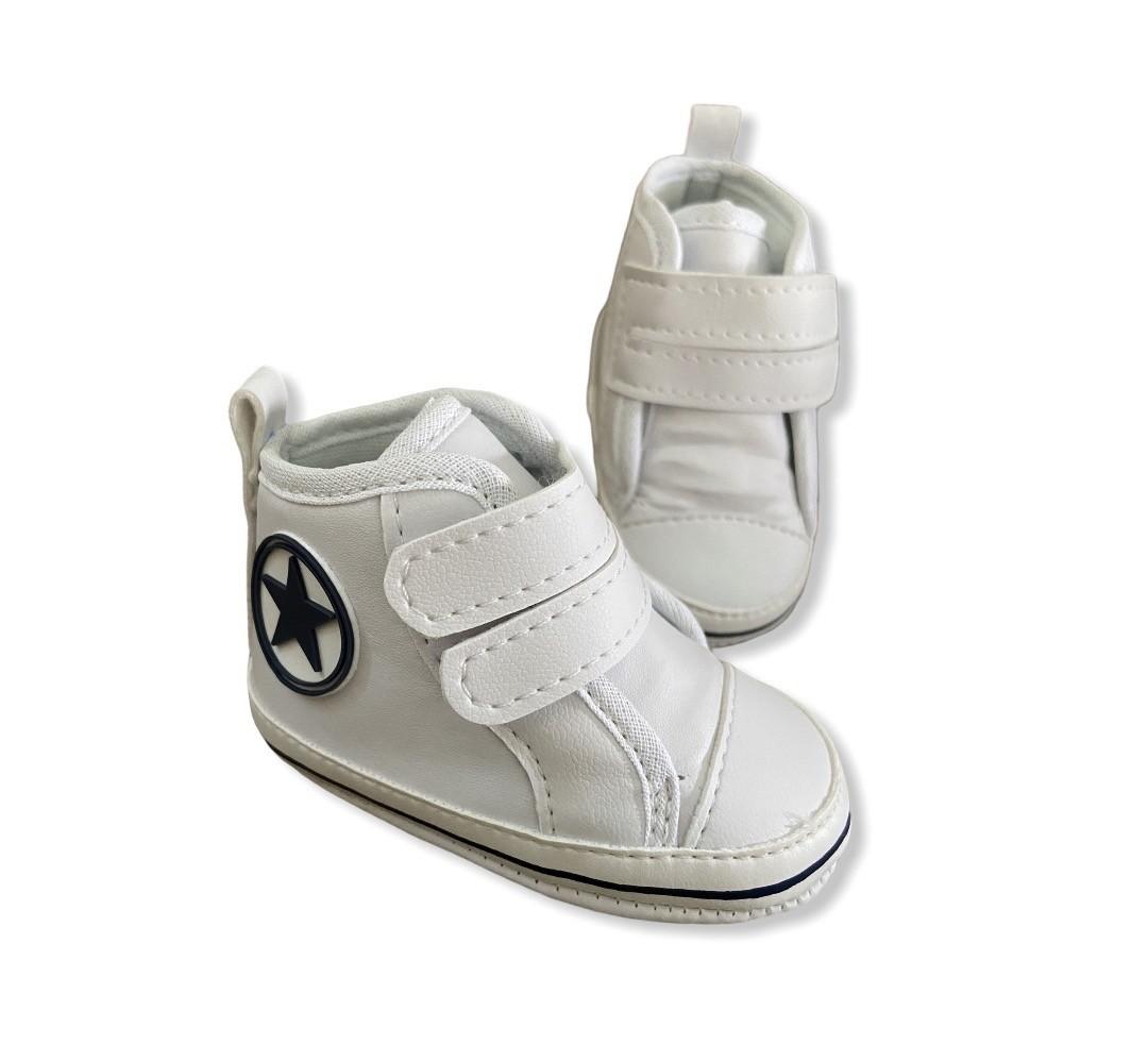 Tenis Baby Cano Alto - Branco