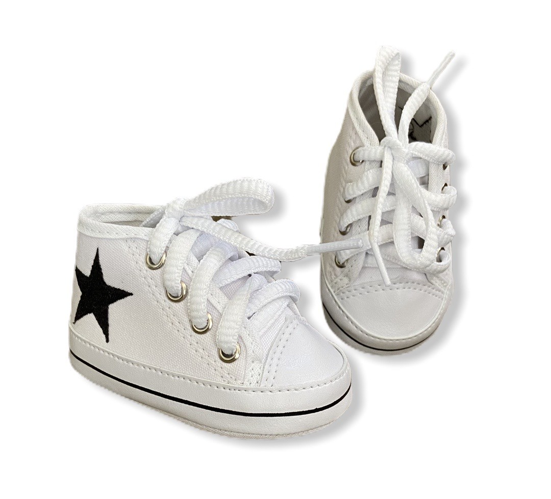Tenis Baby Cano Alto - Branco detalhe estrela