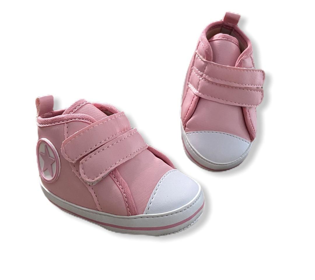 Tenis Baby Cano Alto - Rosa
