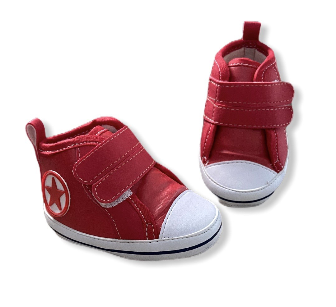 Tenis Baby Cano Alto - Vermelho