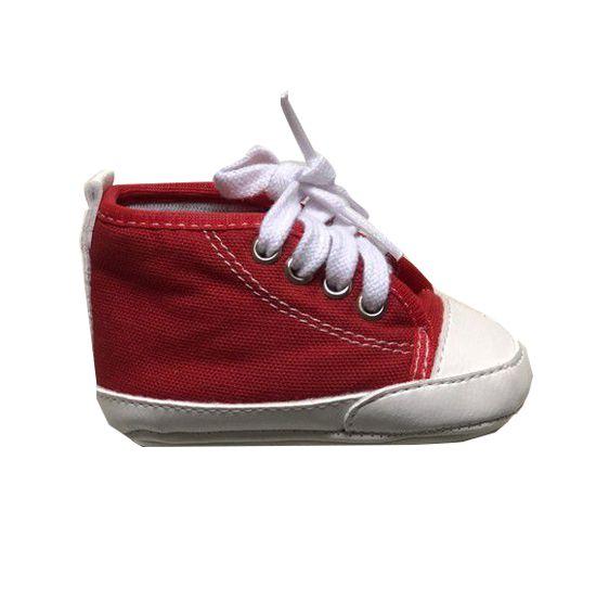 Tênis Baby Cano Alto - Vermelho