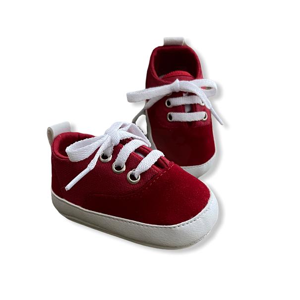Tênis Baby Vermelho -  Com Veludo