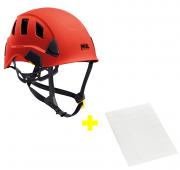 Capacete Strato Vent + Adesivos Transparentes para Personalização Petzl