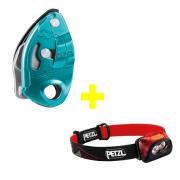 Kit - GRIGRI e Lanterna de Cabeça ACTIK CORE Petzl