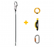 Kit - Talabarte JANE MGO + Absorvedor ABSORBICA + Conectores RING OPEN e OK TL Petzl