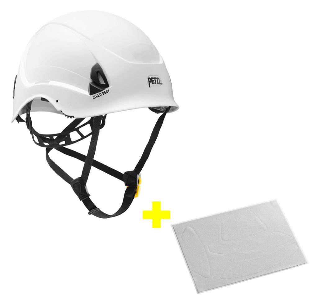 Capacete Alveo Best + Adesivos Refletivos para Aumento da Visibilidade Petzl