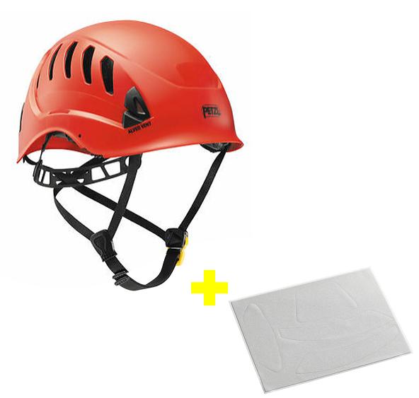 Capacete Alveo Vent + Adesivos Refletivos para Aumento da Visibilidade Petzl