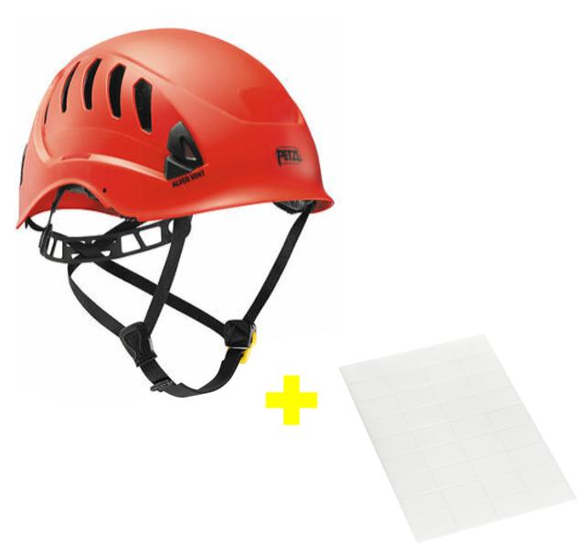 Capacete Alveo Vent + Adesivos Transparentes para Personalização Petzl