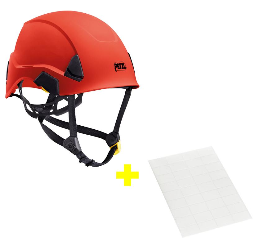 Capacete Strato + Adesivos Transparentes para Personalização Petzl