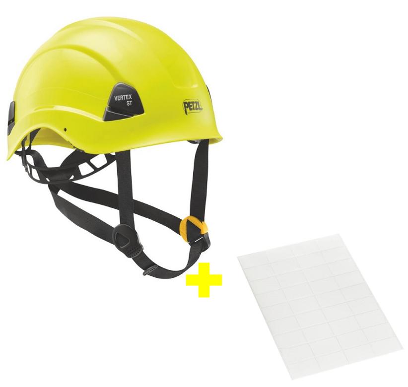 Capacete Vertex ST + Adesivos Transparentes para Personalização Petzl