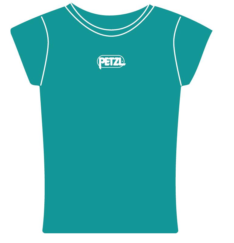 Eve - Camiseta Feminina Cor Turquesa Petzl