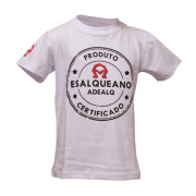 Camiseta INFANTIL branca selo esalqueano