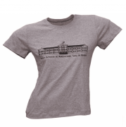 Camiseta Masculina Cinza Mescla Predio Principal