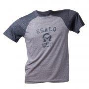 Camiseta mescla cinza e chumbo A encarnado Esalq Usp