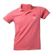 Camiseta Polo Masculina Mescla Vermelho