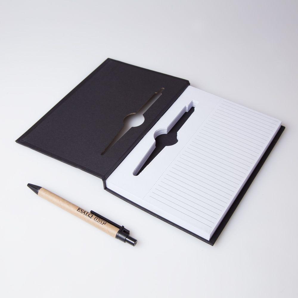 """bloco de anotações A """" encarnado"""" Preto"""