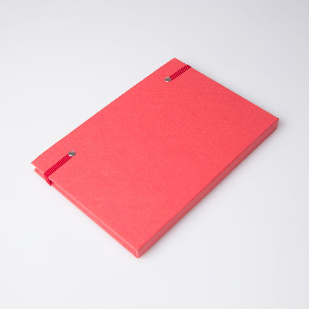 bloco de anotações Prédio Principal Vermelho